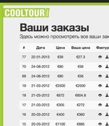 software for Cool Tour